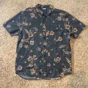 Vans Floral Short Sleeve Button Up Shirt